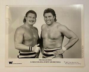 The Killer Bees ORIGINAL 1987 WWF 8x10 Promo Photo! B. Brian Blair! Jim Brunzell