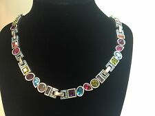 Patricia Locke $600 Joy Savoy Sterling Silver Swarvoski Crystal Necklace (USA)