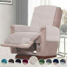 "21"" Recliner Cover Chair for Pets Furniture Protector Double Quilted Light Beige"