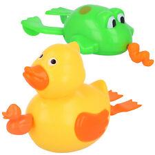 2x Badespielzeug für Kinder, Wasserspielzeug zum Aufziehen, Ente/Frosch