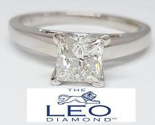0.96 ct 14K & Platinum Leo Princess Diamond Solitaire Engagement Ring G/SI2