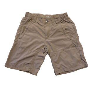 "Columbia Omni Shade PFG Nylon Elastic Waist Shorts Men's Size 32 10"" Inseam"