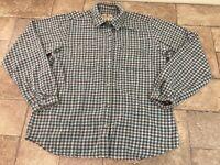 Woolrich Women's Medium Checkered Plaid Long Sleeve Button Front Shirt Soft
