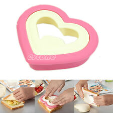 Lovely Bento Food Mold Heart Shape Sandwich Maker Cake Cookies Bread DIY Mould