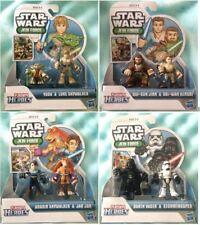 Star Wars Playskool Heroes Jedi Force Figures Lot of 8 Yoda Luke Jinn Obi-Wan ++