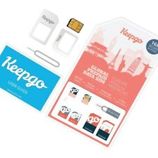 Keepgo Global Lifetime 4G LTE Data SIM Card for Europe, Asia & the Americas + 1G