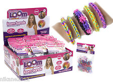 loom bands children's rainbow bracelet making charm rings new bandz craze refill