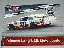 2012 JOHANNA LONG #70 KEEN AUTO PARTS NASCAR POSTCARD