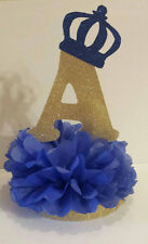 Royal little prince table centerpiece initial baby shower birthday party decor