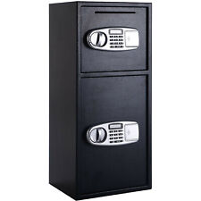 Digital Safe Box with 2 Doors - Dual / Twin Door Electronic Locking Safe Cabinet