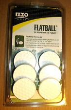 Izzo Golf Flatball Swing Golf Training Aid 6 Pack Brand New