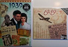 78th BIRTHDAY GIFT - 1939 News DVD & Compilation CD and Year Greeting Card