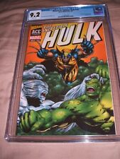 INCREDIBLE HULK 181 WIZARD ACE EDITION CGC 9.2 WHITE PAGES ACETATE COVER