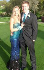 BLUE OMBRE SEQUIN DAVE AND JOHNNY PROM/PAGEANT/FORMAL DRESS/GOWN 10172 4