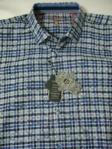 New LUCHIANO VISCONTI BLACK Label Men's Dress Shirt 100% Cotton 2XLB $145 NWT