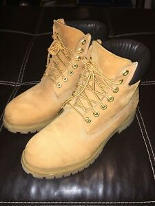 "Timberland 6"" Premium Waterproof Nubuck Wheat Boots 10661 37 35 Men's Size 9 M"
