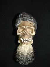 Badger Hair Custom Shaving Brush SKULL Design Barber Shop Shave NEW Collectible!