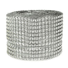 Studs Rhinestone Diamond Mesh Wrap Ribbon, 4-3/4-Inch, 10 Yards
