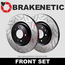FRONT Performance Cross Drilled Slotted Brake Disc Rotors TB31250