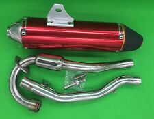 Red New Aluminum Muffler Exhaust System For Honda CRF150F CRF230F Full System