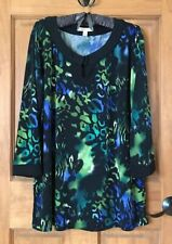 JM COLLECTION TOP BLOUSE DRESSY TUNIC TOP  2X 2XL XXL 18/20
