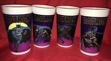 1989 Dc Comics Batman Taco Bell Pepsi Collectible Cups - Set of 4