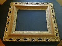 large ornate Beautiful Victorian Antique Wood & Gesso Picture Frame fits 16x20