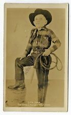 Postcard RPPC Little Jimmie The Nations Youngest Whip Cracker