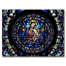 """*Postcard-""""Madonna & Child...on Stained Glass""""   ...Classic-"""