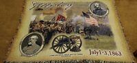 "Tapestry Woven Mill Street Confederate Robert E. Lee Civil War Blanket 64"" x 52"""