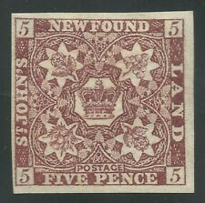 NEWFOUNDLAND #12A MH - 5 pence, violet brown