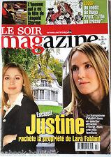 Soir Magazine 3/11/2010;Justin Henin chez Lara Fabian/ Willy Staquet/ Keith Rich