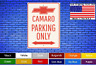"Camaro Parking Only 8""x12"" American White Aluminum Sign Choose Color Novelty !"