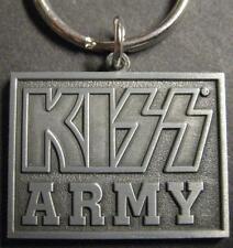 """KISS Portachiavi/Keychain/Keyring # 7 """"Kiss Army"""" - Metallo"""