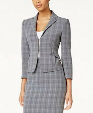 Tommy Hilfiger Plaid Peplum Jacket Size 12 #C433 MSRP...