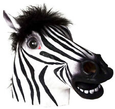 Adult Deluxe Latex Animal Costume Mask - Zebra