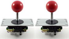 2 X Original Sanwa Jlf-tp-8yt bola superior Arcade Palancas De Mando, 4/8 forma (rojo) Mame Jamma