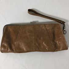 Womens Kenneth Cole Reaction Tan Leather Clutch