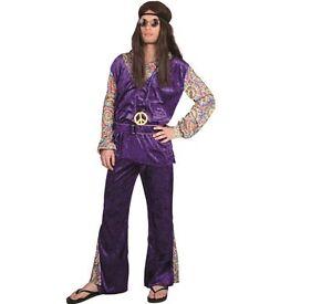 Gr M L Hippie Flower Power Männer Schlagermove Kostüm 70er 80er Schlager 87305