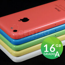 APPLE IPHONE 5C 16GB ORIGINALE SIM FREE iOS 9 ACCESSORI GARANZIA VARI COLORI