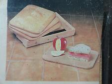 "Sandwich Boards Cheese European Set of 4 Catskill Craftsmen Rock Maple 7""x 10"""