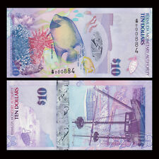 Bermuda 10 Dollars Banknote, 2009, P-59, UNC, United States Paper Money
