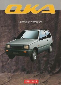 KAMAZ (not SeAZ, not Lada /VAZ) VAZ-11113 Oka car_Russia)_1999 Prospekt Brochure