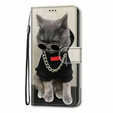 Phone Wallet Case With Cats For Samsung