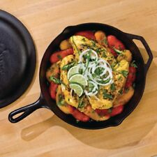 12 In. Cast Iron Skillet Frying Pan Fry Stove Grill Campfire Induction Cooktop