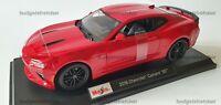 MAISTO 1:18 Scale - 2016 Chevrolet Camaro SS - Red -  Diecast Model Car