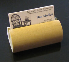 Wooden Dowel Business Card Holder, free shipping