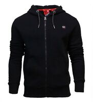 Superdry Mens New Collective Full Zip Long Sleeve Hoodie Black