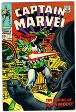 Captain Marvel 7 Early Carol Danvers! Vg (4.0) Ronan Story! Romita Cvr! 1968