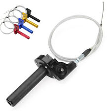 "Universal 7/8"" CNC Motorcycle Dirt Bike Twister Tube Clamp+Throttle Cable Black"